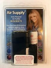 MINIMATE IONIZER PERSONAL IONIC AIR PURIFIER AS150MM BLACK