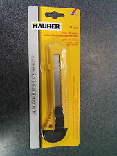 2 CUTTER O COLTELLO MAURER DA 18MM LAMA A SPEZZARE