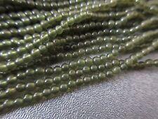 """Green Jade Round Beads 2 mm 16"""""""