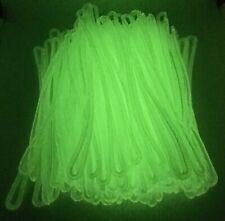 Glow in the Dark Luggage Tag worm loops 6 inch 100 per bag