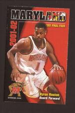 Maryland Terrapins--2001-02 Basketball Pocket Schedule-Pepsi/Frito Lay