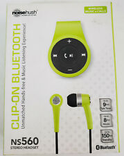 Noisehush Clip on Bluetooth Hands Free Wireless Music&Calls NS560 Headset Green