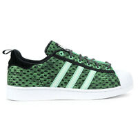 Adidas Mens Superstar Glow In The Dark Green/Black/White Shoes F37671 NEW!