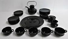 Rosenthal Assam Tapio Wirkkala Teeservice Kaffeeservice Service porcelaine noire