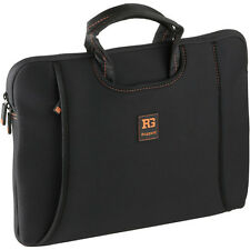 "Ruggard 14"""" Ultra Thin Laptop Sleeve with Handles (Black/Orange)"