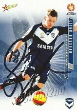 ✺Signed✺ 2007 2008 MELBOURNE VICTORY A-League Card LEIGH BROXHAM