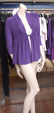 Joseph Ribkoff UK 10 BNWT Fabulous Purple Stretch Jersey Wrap Top Cardi Jacket