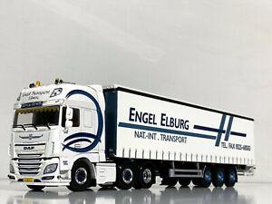 """DAF XF SSC 6x2 curtainside trailer """"Engel"""" WSI truck models 01-2738"""
