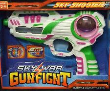 Kids Flashing LED Gunfight Space Pistol Ray Gun With Firing Sound Laser Toy Whit