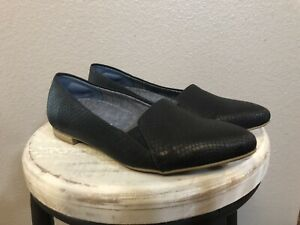 Dr. Scholls Be Free Black Textured Flats Energy Technology Womens Size 6 M