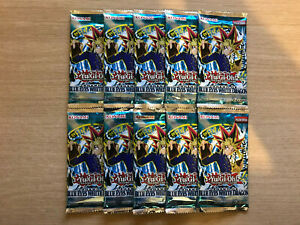 10 x YuGiOh Legend of Blue-Eyes White Dragon Booster Packs - LOB - Sealed (1)
