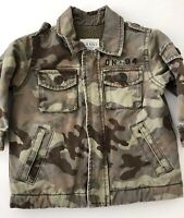 Old Navy Boys Youth Toddler Lined Camo Jacket Distressed Size 12-18 Months