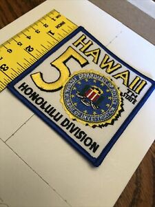 NOVELTY PATCH FEDERAL BUREAU OF INVESTIGATION HAWAII DIVISION