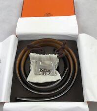 Kit De Cinturón Para Hombre Mujer Diseñador Hermes Hebilla De Plata H Blanco Marrón 32mm tamaño 95cm