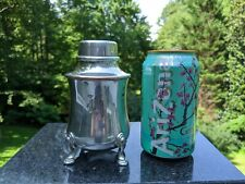 """Sheffield Silver Co. Footed Silverplate Martini/Cocktail Shaker Monogrammed """"G"""""""