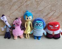 5PCS/SET New Disney Inside Out Sadness Joy Fear Anger Bing Bong Soft Plush Toys
