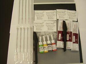 STICK HAND POKE TATTOO KIT NEEDLES INK .CARBON &TRACING PAPER,2 NEEDLE PENS ETC