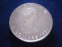 "MDS KANADA / CANADA 5 DOLLARS 1989 ""MAPLE LEAF"", 1 UNZE SILBER   #7"