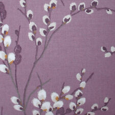 Set of 4 Laura Ashley 9 inch x 9 inch fabric off cuts - Pussy Willow Grape
