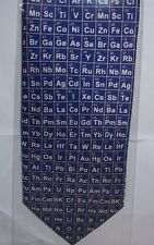 Periodic Tables blue Silk Tie