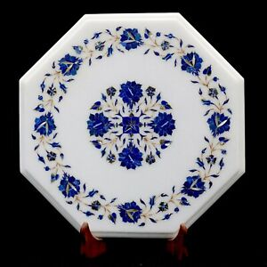 Marble Inlay table Top Inlaid With Lapis Lazuli Gems Stone Coffee & Center Table