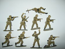 Airfix  German Africa corps soldiers 9 in 7 poses in very condition 1/32 scale