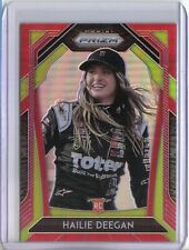 2020 Panini Prizm Racing Hailie Deegan Rookie RC Red Prizm Variations #56 NASCAR