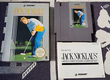 Nintendo Nes Spiel mit OVP NES Jack Nicklaus Golf