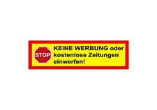 6x boîte aux lettres Autocollant stop aucune publicité, etc. sticker rouge jaune