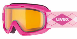 UVEX Slider Goggles - Small Youth Unisex - Laser Gold Lite Lens + Goggle Sleeve