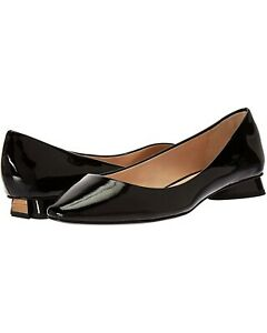 Kate Spade New York Fallyn Black Patent Leather Short Heeled Flat NEW Size 7