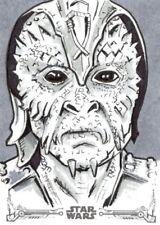 Star Wars ROTJ Black & White Topps Sketch Card, Skiff Guard by John Bruce
