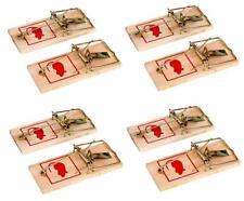 8x Mausefalle aus Holz 10 x 4,5 cm | Rattenfalle | Mäuse Fallen | Schlagfalle