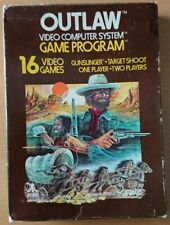 Atari 2600 Outlaw Game Boxed Instructions Tested Working Colour Label
