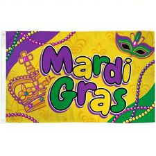 3x5 Mardi Gras Beads Flag Outdoor Banner Fat Tuesday Party Polyester New