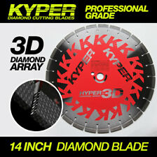 14 INCH KYPER HYPER 3D CONCRETE CUTTING DISC FOR DEMO SAW