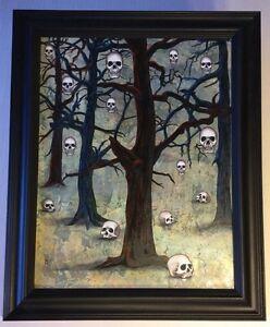 "Original Bonni Reid Oil Painting ""Bone Orchard"""