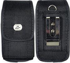 LG K8 / K8 V Vertical Phone Case Pouch Holster Metal Clip, Belt Loop,
