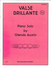 Valse Brillante Advanced Piano Solo Sheet Music Glenda Austin Willis