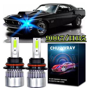 For Ford Mustang 1990-2004 -2X 8000K 9007 HB5 Plug&Play LED Headlight Hi/Lo Bulb