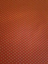 White Polka Dots  on Red Cotton Fabric 16 x 44 x 2