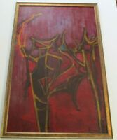 BAY AREA ABSTRACT PAINTING MYSTERY EXPRESSIONIST EXPRESSIONISM MODERNISM 1950'S