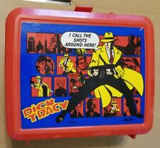 Vintage Disney Dick Tracy Detective Lunch Box Aladdin