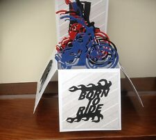Handmade Motorbike themed birthday/ any occasion pop up card