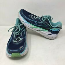 Hoka One One Womens Clifton 3 Running Athletic Shoes Blue Teal Green Size 11
