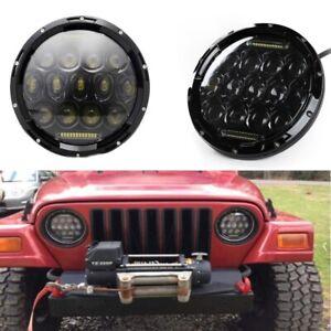 7'' 75W Round LED Headlight DRL for Jeep Wrangler CJ JK TJ Lada 4x4 urban Niva