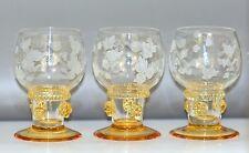 3 Theresienthal Saar Sherryglas/Likörglas Kristall  Beerennuppen Blütenband