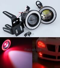 "2x Red 3.5"" Angel Eye Ring + Front Projecor Fog Lamp DRL Daytime Running Light"