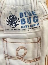 """Oilily White Knit Baby Jeans Pants 0-3 mo NB 50 """"Denim"""" DON'T BUG ME $90! NEW"""