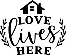 13 inch Love Lives Here Decal Wall Home Decor Family House Welcome Happy Kids